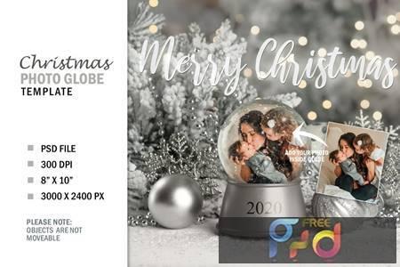 Christmas Winter Snow Globe Digital Photo Gift QB9GZB9 1
