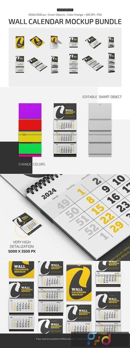 Wall Calendar Mockup Bundle 5643348 1