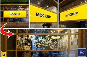 3 Cafe Glass Sticker Decals Mockup 5499362 4