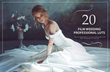 20 Film Wedding LUTs Pack 5602641 5