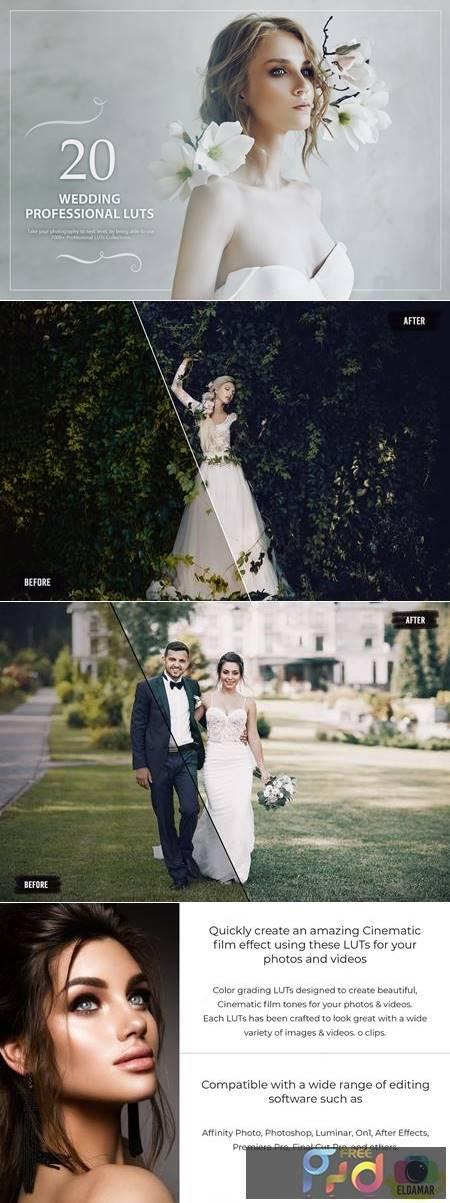 20 Wedding LUTs Pack 5602691 1