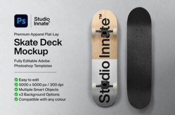 Skate Deck - Mockup 5498774 8
