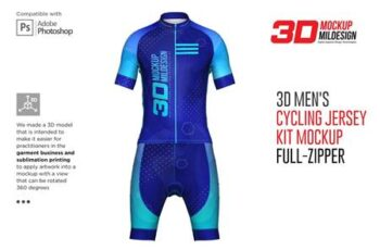 3d Mens Cycling Jersey kit Fullzip 5557438 5
