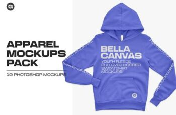 Bella Canvas Youth Pullover Mockups 5444511 2