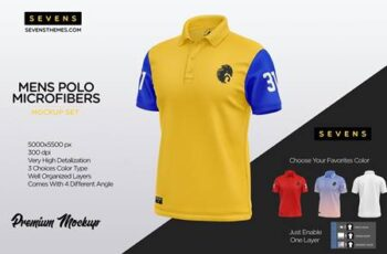Men Polo Microfibers Mockup Set 5435444 4