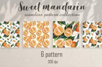 Seamless Watercolor Pattern Mandarins 6769714 2