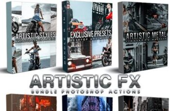 Artistic Bundle (6 in 1) Photoshop Actions 29425595 5