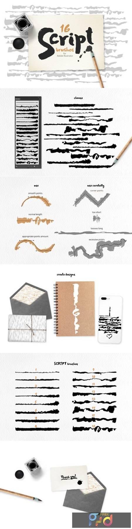 Script Brushes for Illustrator 6797573 1