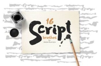 Script Brushes for Illustrator 6797573 4