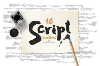 Script Brushes for Illustrator 6797573 3