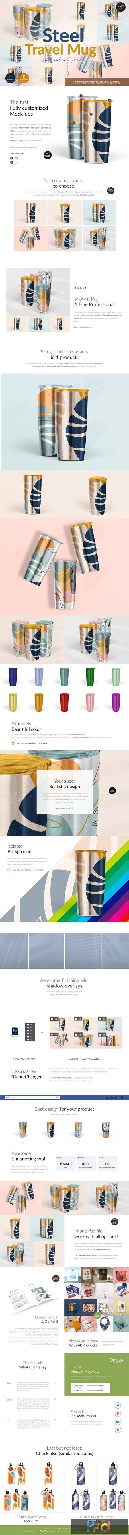 Travel Mug Professional Mock-ups Set 5502633 1