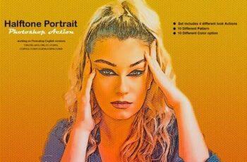 Halftone Portrait Photoshop Action 5388078 15