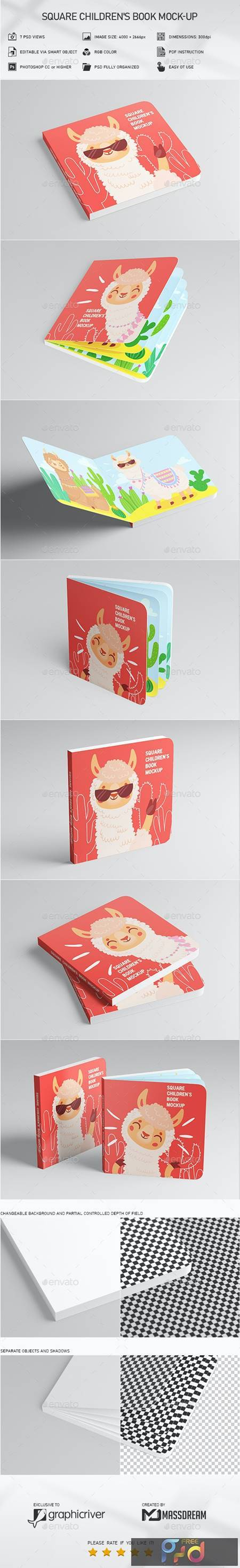 Square Childrens Book Mock-Up 29436553 1