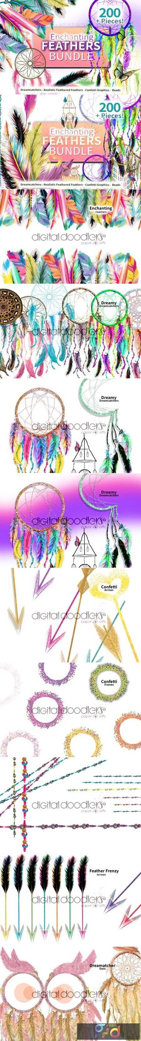 Enchanting Feathers Graphic Bundle 6772245 1