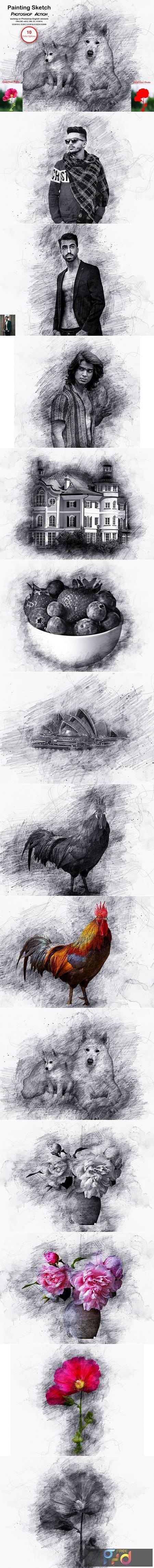 Painting Sketch Photoshop Action 5611943 1