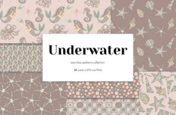 Vintage Underwater Seamless Patterns 6770363 2