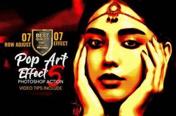 Pop Art Effect Photoshop Action 4883415 7