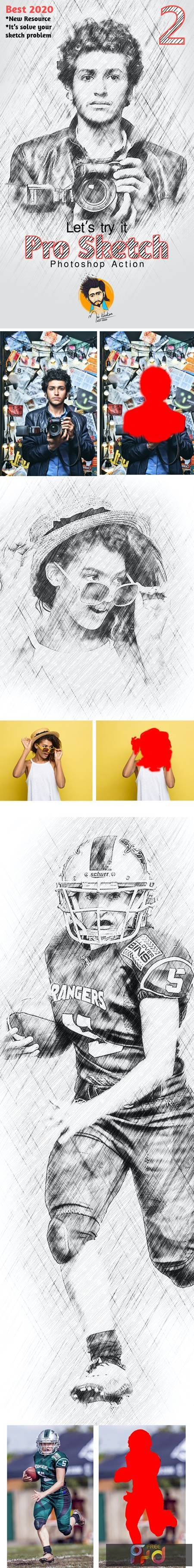Pro Sketch Photoshop Action 28848536 1