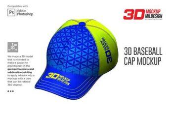 3D Baseball Cap Mockup 5363713 7