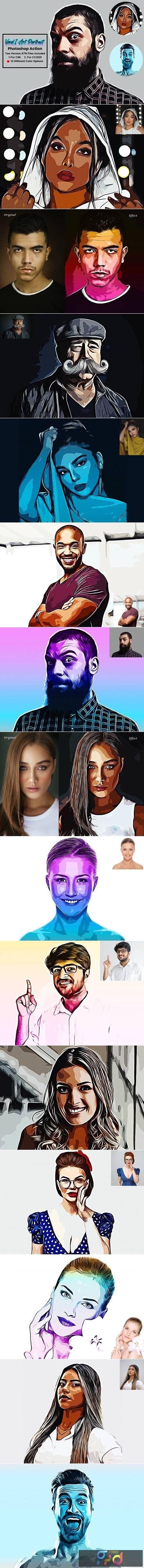 Vexel Art Portrait Photoshop Action 5619194 1