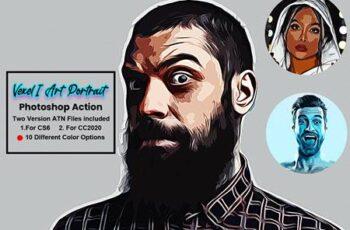 Vexel Art Portrait Photoshop Action 5619194 12