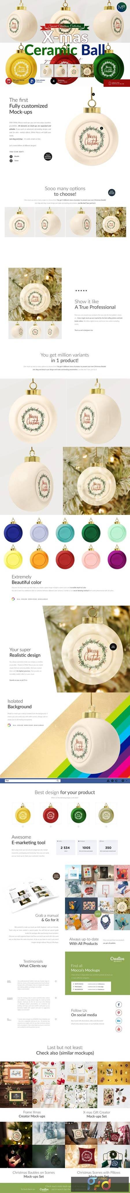 Ceramic X-mass Ball Mock-ups 5636720 1