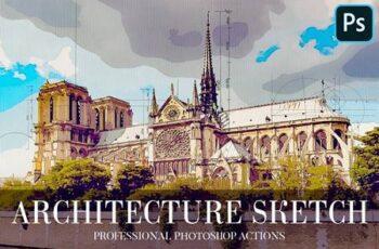 Architecture Sketch Photoshop Action 4870065 7
