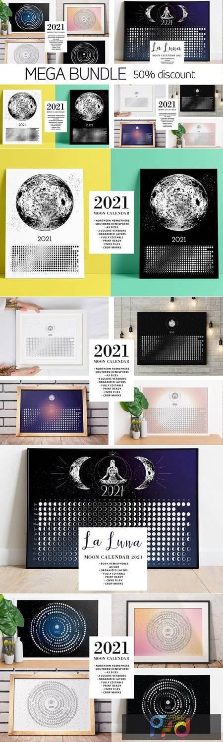 Moon Calendar 2021 MEGA BUNDLE 5635160 1