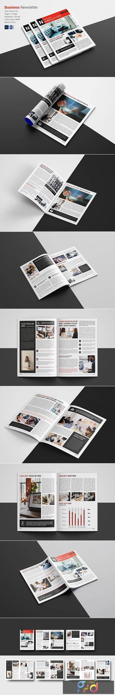 Newsletter Brochure Template 4979586 1