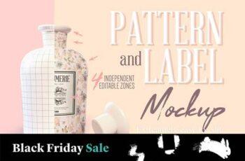 Pattern & Label Parfum Bottle Mockup 4517819 16
