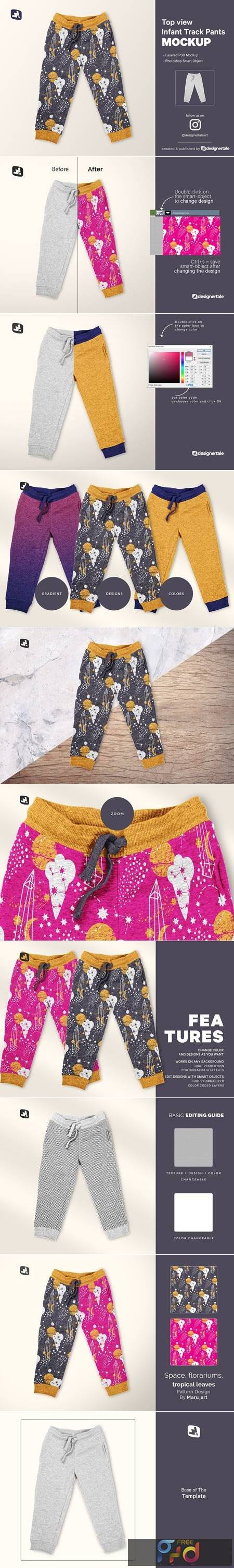 Top View Infant Track Pants Mockup 5201983 1