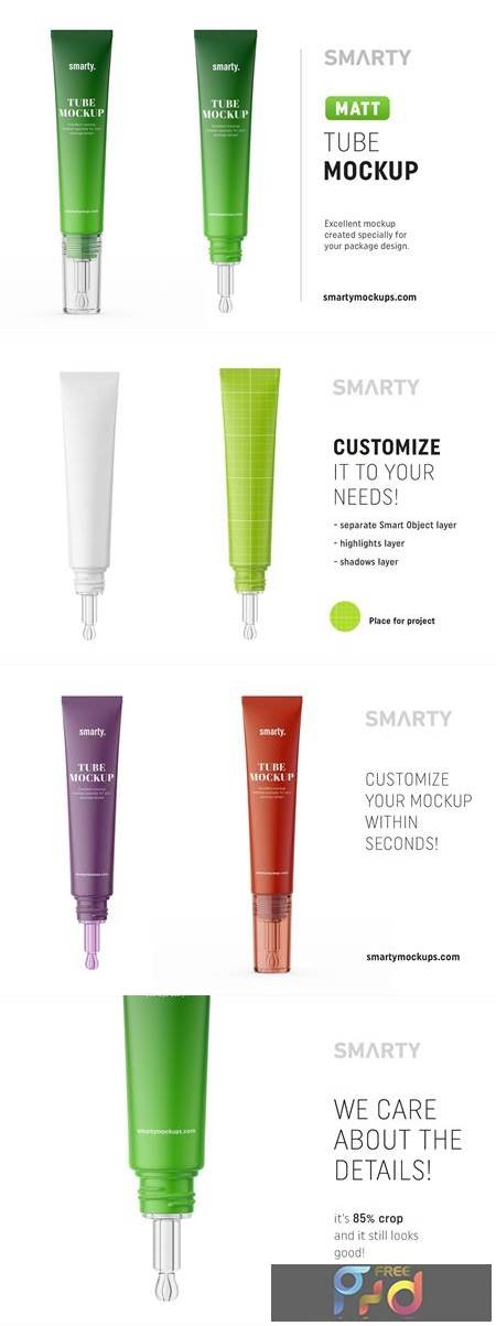 Matt cosmetic tube mockup 4539123 1
