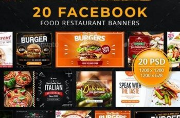 20 Facebook Food Restaurant Banners 29392889 11
