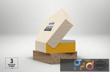 Pentagon Pastry Box Packaging Mockup F6QAVPB 2