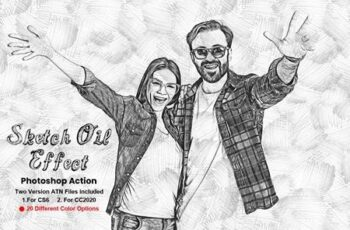 Sketch Oil Effect Photoshop Action 5639205 2