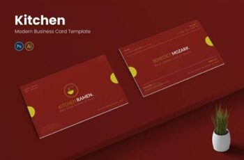 Kitchen Ramen Business Card WM5AKVD 3