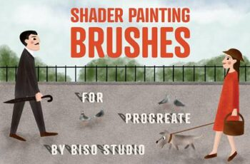 Shader Painting Brushes - Procreate 4686274 7