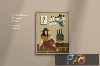 Casual Women portrait print Q6AQU4C 10