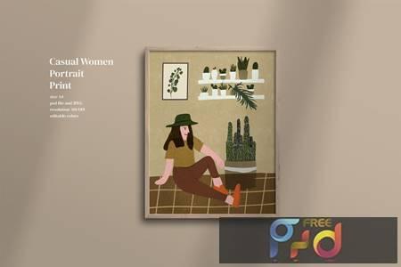 Casual Women portrait print Q6AQU4C 1