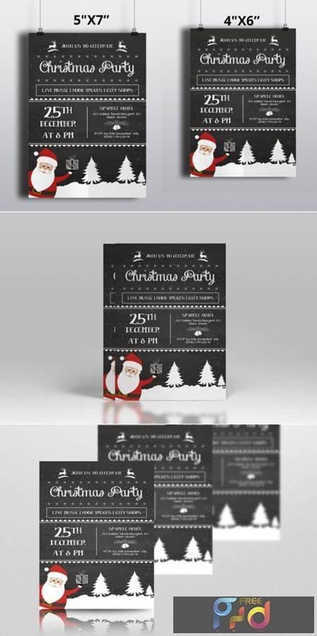 Chalkboard Christmas Flyer 6921469 1