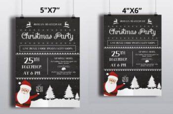 Chalkboard Christmas Flyer 6921469 2