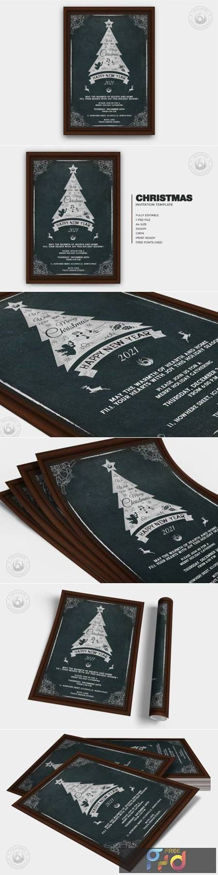 Christmas Invitation Template V5 6916132 1