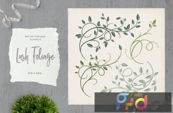 Lush Foliage Vintage Florals DRYDCTW 2
