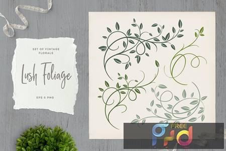 Lush Foliage Vintage Florals DRYDCTW 1