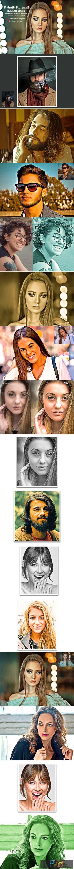 Portrait Oil Effect Photoshop Action 5555086 1