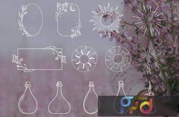 White Decorative Elements Illustrations, Frames 9NUDBUQ 4