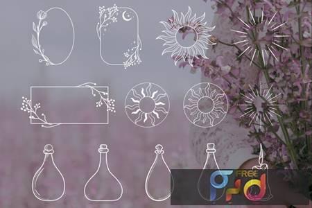 White Decorative Elements Illustrations, Frames 9NUDBUQ 1