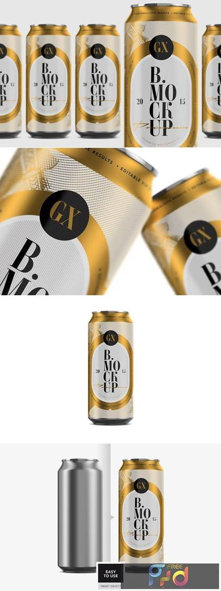 Beer-Soda Can Mockup - Larger 4928128 1
