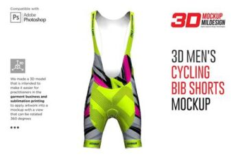 3D Mens Cycling Bib Short Mockup 5528680 7