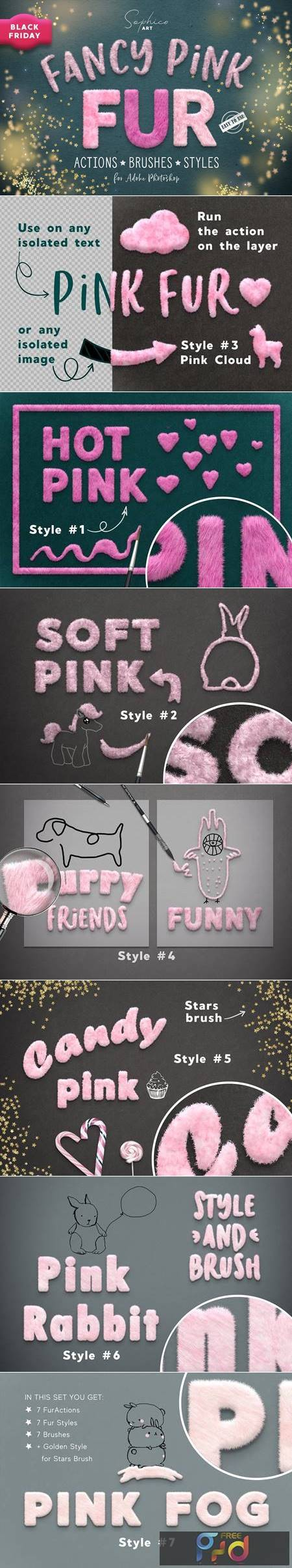 Fanсy Pink Fur Photoshop Effect 5611085 1